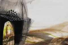 "Жанета Гелевска Вељановска -Жани "" Поглед "" тех-битумен,креон дим 50х70см 2020год"